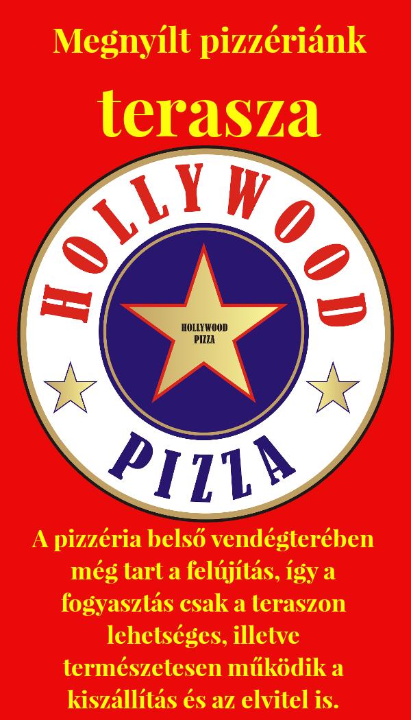 Megnyitott pizzériánk terasza, pizza Szombathely